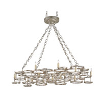 Currey & Company Catalyst 15 Light Chandelier in Annatto Antique Silver 9572
