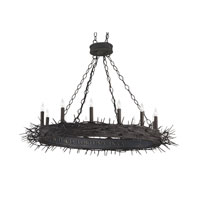 Currey & Company Fortune 12 Light Chandelier in Mole Black 9573