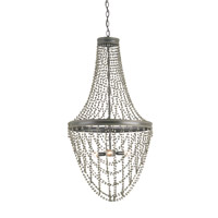 Currey & Company Gwyneth 3 Light Chandelier in Old Iron and Aged Brass 9579