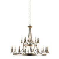 Currey & Company Antique Silver Leaf Chandeliers