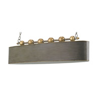 Currey & Company Stillman 4 Light Chandelier in Antique Gold Leaf and Pyrite Bronze 9584
