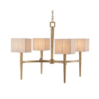 Currey & Company Simsbury 4 Light Chandelier in Textured Gold 9585