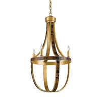 Currey & Company Porterdale 4 Light Chandelier in Contemporary Gold Leaf 9588
