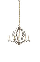 Currey & Company Montecristo 5 Light Chandelier in Aged Brass/Silver Leaf 9594