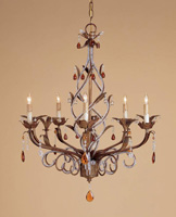 Currey & Company Isabella 5 Light Chandelier in Rhine Gold 9596