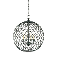 Simpatico 4 Light 22 inch Hiroshi Gray Orb Chandelier Ceiling Light