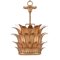 Currey & Company Havana 1 Light Pendant in Contemporary Gold Leaf 9624