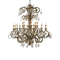 Currey & Company Promenade 18 Light Chandelier in Italian Silver 9632
