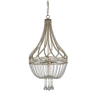 Currey & Company Ingenue 4 Light Chandelier in Chinois Antique Silver Leaf 9634