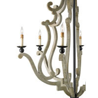 Currey & Company Durand 6 Light Chandelier in Old Iron 9636