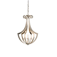 Currey & Company Venus 6 Light Chandelier in Contemporary Silver Leaf 9639