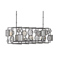 Currey & Company Gallerist 8 Light Chandelier in Blacksmith and Raj 9640