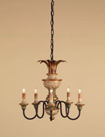 Currey & Company Naples 5 Light Chandelier in Hand Painted Multi-Color 9642