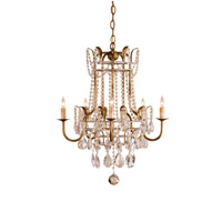 Currey & Company Laureate 5 Light Chandelier in Rhine Gold 9643
