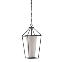 Currey & Company Vicarage 1 Light Pendant in Blacksmith 9648