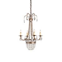 Currey & Company Eugenia 4 Light Chandelier in Cupertino 9650
