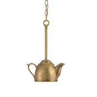 Currey & Company Oolong 1 Light Pendant in Vintage Brass 9651