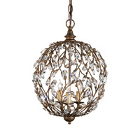 Currey & Company 9652 Crystal Bud 3 Light 13 inch Cupertino Chandelier Ceiling Light