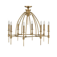 Currey & Company Adeline 8 Light Chandelier in Vintage Brass 9657
