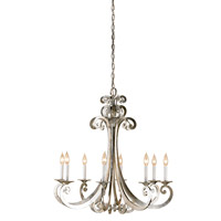 Currey & Company Constellation 8 Light Chandelier in Contemporary Silver Leaf 9666