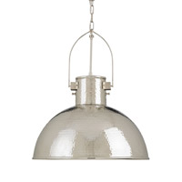 Currey & Company Syllabus 1 Light Pendant in Nickel 9673