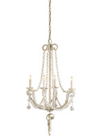 Currey & Company Wampum 4 Light Chandelier in Natural Shell 9681