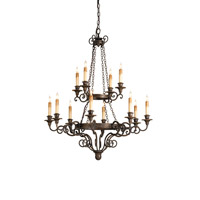 Currey & Company 9682 Galleon 12 Light 33 inch Hand Rubbed Bronze Chandelier Ceiling Light photo thumbnail