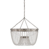 Highbrow 8 Light 24 inch Contemporary Silver Leaf Chandelier Ceiling Light