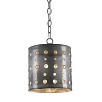 Currey & Company Charney 1 Light Pendant in Antique Tin 9698