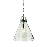 Vitrine 1 Light 11 inch Clear Glass/Nickel Pendant Ceiling Light