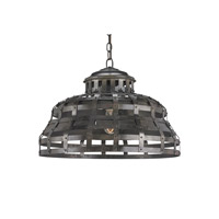 Currey & Company Gartell 1 Light Pendant in Black Bronze 9702