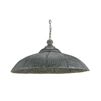 Currey & Company Patois 1 Light Pendant in Blackened Steel Patina 9703