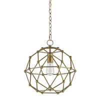 Currey & Company Percy 1 Light Chandelier in Antique Brass 9704
