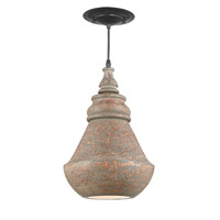 Anton 1 Light 10 inch Distressed Natural Pendant Ceiling Light