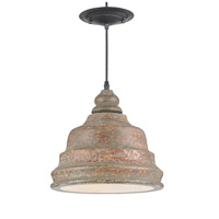 Currey & Company Lulworth 1 Light Pendant in Distressed Natural 9710
