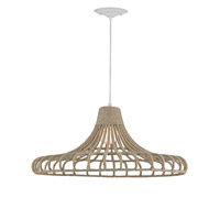 Currey & Company Baypointe 1 Light Pendant in Natural 9712