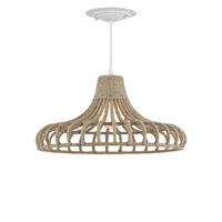 Currey & Company Baypointe 1 Light Pendant in Natural 9714