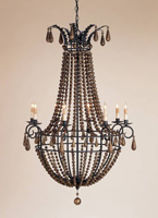 Currey & Company Europa 8 Light Chandelier in Spanish Gilt/Gold Leaf 9717