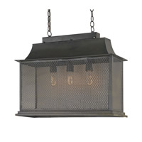 Currey & Company Midnight 3 Light Lantern in Black Oxidized 9718