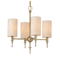 Currey & Company Stanhope 4 Light Chandelier in Antique Brass 9728