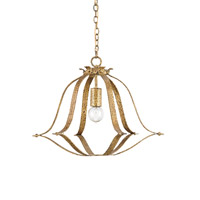 Currey & Company Vickers 1 Light Pendant in Textured Gold 9730