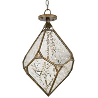 Currey & Company Glace 3 Light Chandelier in Pyrite Bronze 9732