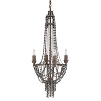 Currey & Company Cheri 4 Light Chandelier in Old Rust and Oxidized and Black 9741