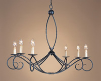 Currey & Company Cheshire 6 Light Chandelier in Zanzibar 9745