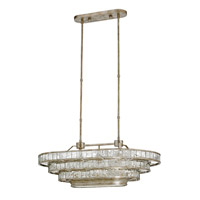 Frappe 3 Light 24 inch Silver Granello and Raj Mirror Chandelier Ceiling Light