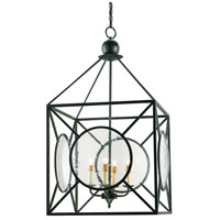 Currey & Company 9748 Beckmore 4 Light 20 inch Old Iron Lantern Pendant Ceiling Light Lillian August Collection