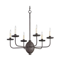 Currey & Company Blackwell 6 Light Chandelier in Mole Black 9751