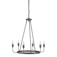 Currey & Company Trilogy 6 Light Chandelier in Oil Rubbed Brass 9753