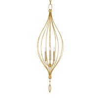 Currey & Company Yves 3 Light Chandelier in Grecian Gold Leaf 9756