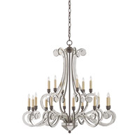 Currey & Company Belgravia 18 Light Chandelier in Old Iron and Light Antique 9757